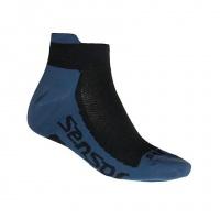 SENSOR PONOŽKY RACE COOLMAX INVISIBLE černá/modrá