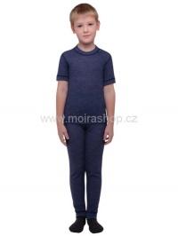 MOIRA MONO dětské spodky dlouhé nohavice 130-160 denim