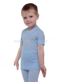 MOIRA MONO dětské triko s krátkým rukávem 90-120 světle modrá