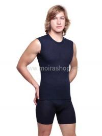 MOIRA MONO triko bez rukávů modrá