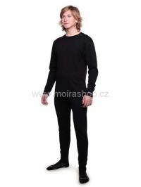 MOIRA PLYŠ spodky s dlouhou nohavicí černá