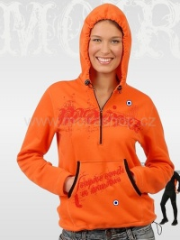 MOIRA Stretch klokanka unisex oranžová tisk