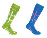ponožky Salomon Team JR 2pack methyl blue/granny green