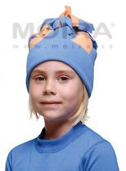 MOIRA čepice střapec dětská chrpa oranž