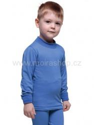MOIRA Warm Stretch dětské triko dlouhý rukáv 130-160 modrá