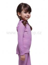 MOIRA Warm Stretch dětské triko dlouhý rukáv 130-160 růžová