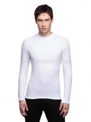MOIRA Warm Stretch pánské triko s dlouhým rukávem bílá