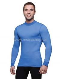 MOIRA Warm Stretch pánské triko s dlouhým rukávem modrá