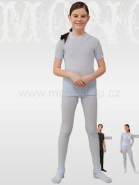 MOIRA MONO dětské triko s krátkým rukávem 130-160 světle modrá