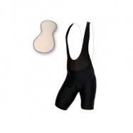 Pánské krátké kalhoty s kšandami s vložkou, černá