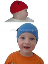 MOIRA Warm Stretch dětská kojenecká čepice červená