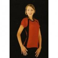 MOIRA FITNESS dámské triko krátký rukáv 1 červená