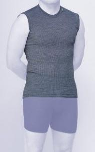MOIRA MONO triko bez rukávů modrá perla