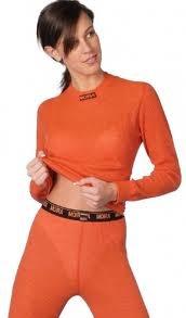 MOIRA MONO triko dámské dlouhý rukáv oranžová