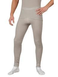 MOIRA MONO spodky s dlouhou nohavicí šedé
