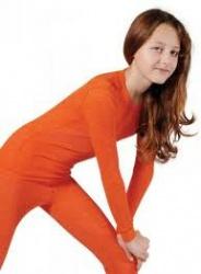 MOIRA MONO dětské triko s dlouhým rukávem 130-160 oranžová
