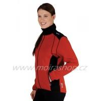 MOIRA Stretch dámská bunda červeno černá