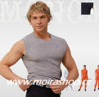 MOIRA MONO triko bez rukávů šedá