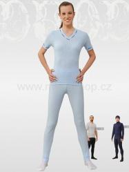 MOIRA DUO dámské spodky s dlouhou nohavicí sv.modrá