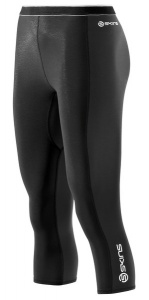 SKINS S400 Womens Black/Graphite/White Thermal 3/4 Tights