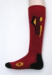 ponožky Salomon Elios red/yellow